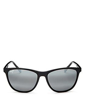 Maui Jim - Women's Sugar Cane Polarized Mirrored Square Sunglasses, 57mm