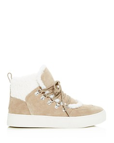 Marc Fisher LTD. - Women's Sana Faux-Shearling High-Top Sneakers