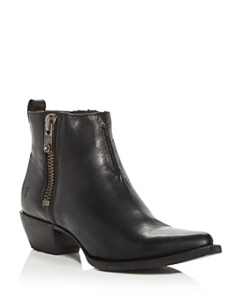Frye - Women's Sacha Western Low-Heel Moto Booties