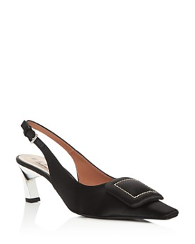 Marni - Women's Slingback Square-Toe Pumps