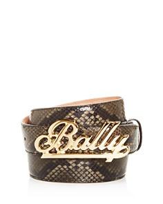 Bally - Swoosh Snake-Embossed Leather Belt