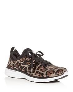 APL Athletic Propulsion Labs - Women's Phantom TechLoom Leopard Print Calf Hair Low-Top Sneakers
