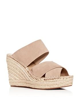 Kenneth Cole - Women's Olivia Espadrille Crisscross Wedge Slide Sandals