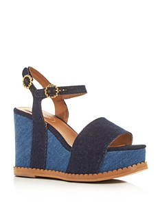See by Chloé - Women's Carrie Scalloped Platform Wedge Sandals