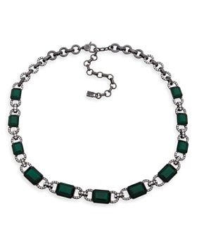 Ralph Lauren - Pavé & Faceted Station Collar Necklace, 17""
