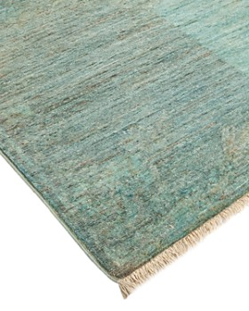 """Solo Rugs - Vibrance Omaha Hand-Knotted Area Rug, 3' 0"""" x 14' 9"""""""