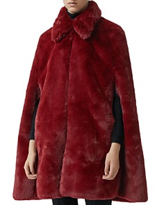 Burberry - Allford Faux Fur Cape