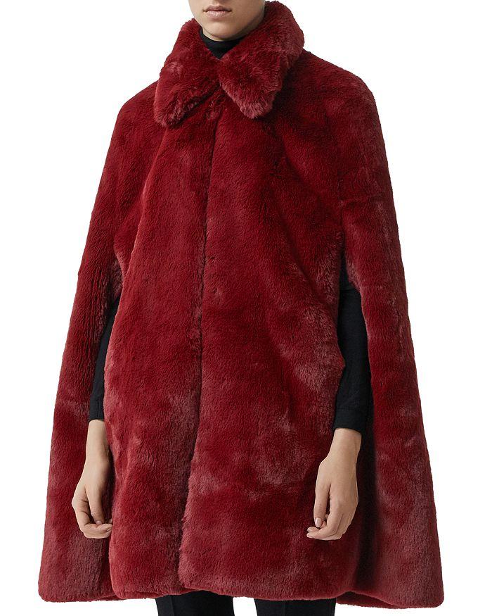 Burberry Allford Faux Fur Cape   Bloomingdale s f4f35529c2d
