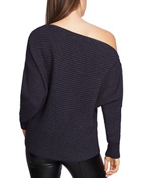 1.STATE - Zip-Boatneck Sweater
