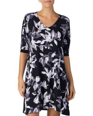 Donna Karan Floral-Print Sleepshirt