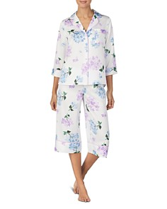 kate spade new york - Floral-Print Cropped PJ Set