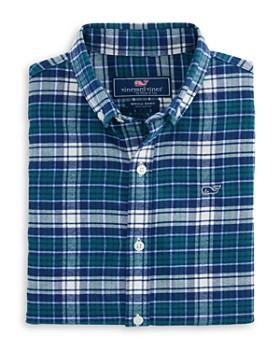d71552a8a Vineyard Vines - Boys  Plaid Cotton Flannel Whale Shirt - Little Kid