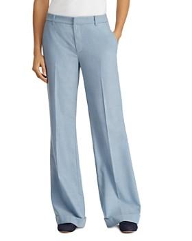 Ralph Lauren - Cuffed Wide-Leg Pants - 100% Exclusive ... d4ce1513e165