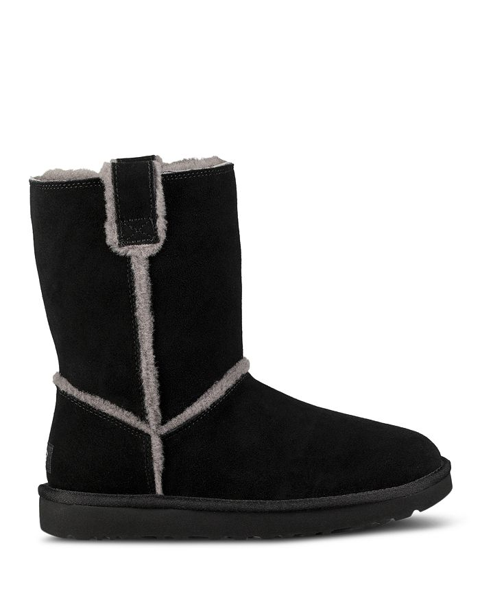 8eb335b3a UGG® Women's Classic Round Toe Sheepskin Short Booties | Bloomingdale's