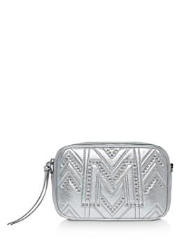MCM - Logo Quilted Metallic Leather Belt Bag