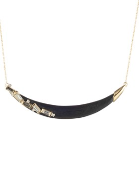 Alexis Bittar - Crystal Crescent Necklace, 16""