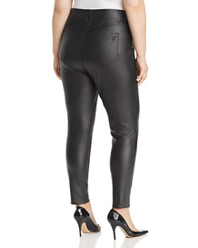 Seven7 Jeans Plus - Faux Leather Pull-On Pants