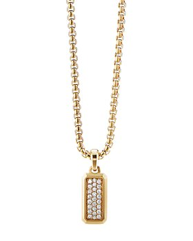 David Yurman - Streamline® Amulet in 18K Yellow Gold with Pavé Diamonds