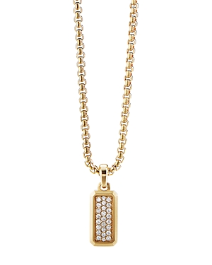 David Yurman Streamline Amulet in 18K Yellow Gold with Pave Diamonds