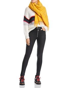 rag & bone/JEAN - Baxter High-Rise Skinny Jeans in Coated Ashes