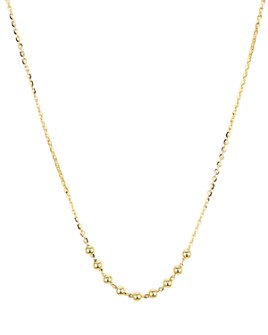 """Argento Vivo - Beaded Chain Necklace in 14K Gold-Plated Sterling Silver, 16"""""""