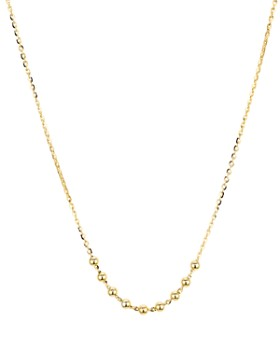 Argento Vivo - Beaded Chain Necklace in 14K Gold-Plated Sterling Silver, 16""