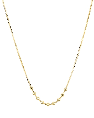 Beaded Chain Necklace in 14K Gold-Plated Sterling Silver