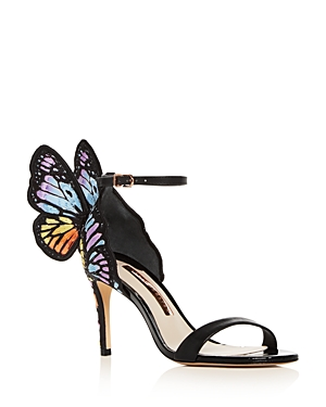 Sophia Webster Women's Chiara Embroidered Butterfly High-Heel Sandals