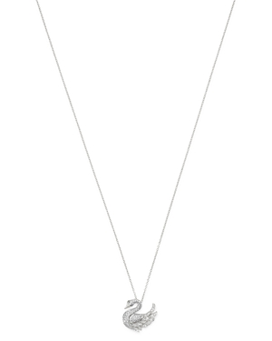 Bloomingdale's Pave Diamond Swan Pendant Necklace in 14K White Gold, 0.40 ct. t.w. - 100% Exclusive