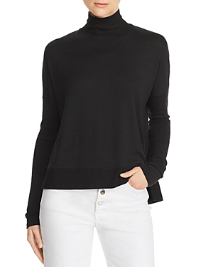 rag & bone/Jean Bowery Button-Back Turtleneck Sweater