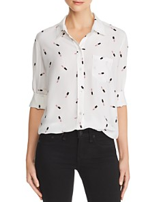 Rails - Kate Lipstick Print Silk Shirt - 100% Exclusive