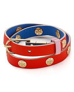 Tory Burch - Reversible Wrap Buckle Bracelet