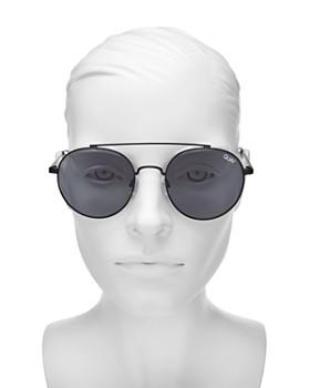 Quay - Women's Outshine Brow Bar Round Sunglasses, 50mm
