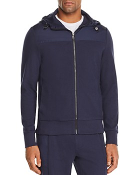 Michael Kors - Mixed-Media Hoodie - 100% Exclusive