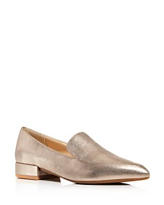 Kenneth Cole - Women's Camelia Metallic Leather Loafers