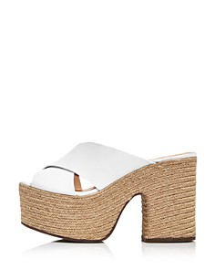 SCHUTZ - Women's Lora Leather Platform Espadrille Sandals
