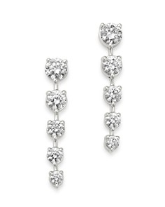 Bloomingdale's - Diamond Graduated Drop Earrings in 14K White Gold, 3.0 ct. t.w. - 100% Exclusive