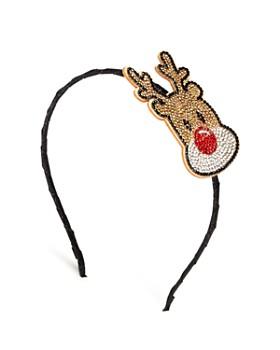 GiGi - Girls' Embellished Reindeer Headband - 100% Exclusive
