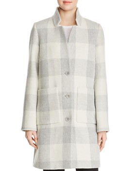 Eileen Fisher - Buffalo Check Car Coat - 100% Exclusive