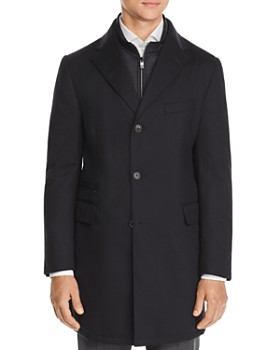 Corneliani - Wool Twill Raincoat with Bib