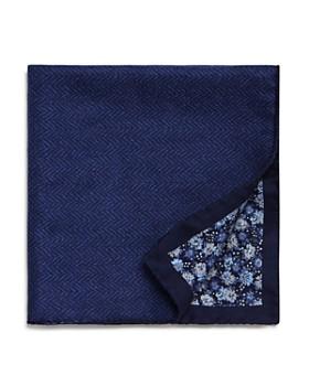 The Men's Store at Bloomingdale's - Herringbone/Floral Reversible Pocket Square - 100% Exclusive