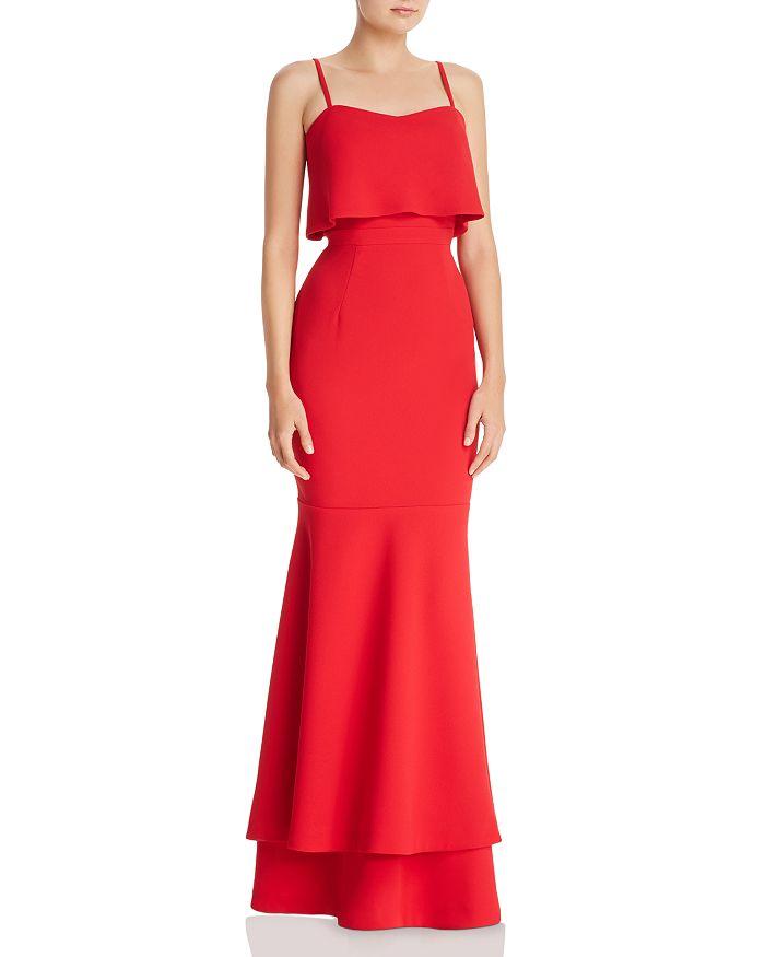AQUA - Tiered Crepe Gown - 100% Exclusive