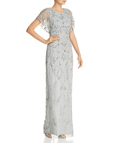 Adrianna Papell - Embellished Scallop-Edged Gown