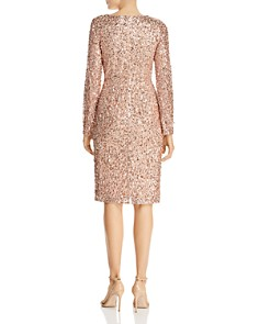 Adrianna Papell - Sequined Faux-Wrap Dress