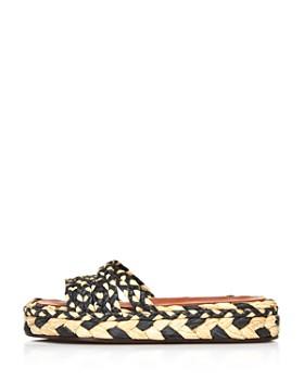 Clergerie - Women's Alize Raffia Slide Sandals