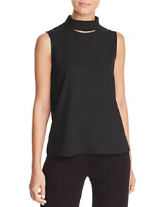 Misook - Cutout Turtleneck Tank
