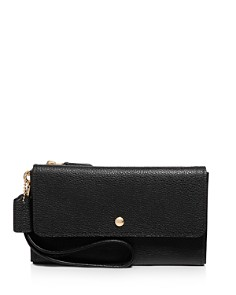 COACH - Triple-Pouch Small Leather Wristlet