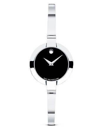 "Movado - ""Bela"" Stainless Bangle Watch, 24 mm"