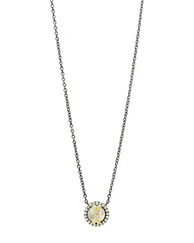 """Freida Rothman - Color Theory Mother of Pearl Pendant Necklace in Black Rhodium-Plated Sterling Silver & 14K Gold-Plated Sterling Silver, 16"""""""