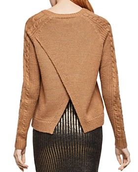 BCBGeneration - Cable-Sleeve Flyaway Sweater